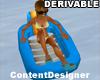 Plastic Blue Pool Chair