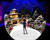 christmas floor & snow