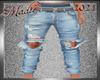 !b Ripped Denim Jeans
