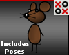 Tiny Brown Cartoon Mouse