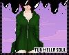 Green Hoodie Bat Dress