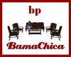 [bp] Patio Set Brown