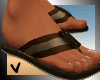 [ves] canvas sandals brw