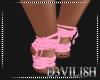D- ZeZe Pink Feet Wraps