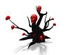 RED BLACK SKULL TREE