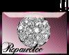 *R* Whte Diamond Sticker