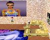 disco sofa+poses gold