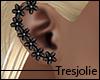 tj:. Black Floral Earrin
