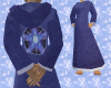 *P* F-Blue Pentacle Robe