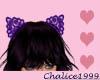 Purple Cat Lace Ears