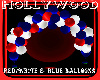 blue& red balloons