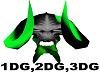 Devil Skull Light Green