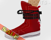 Mens Red High Boots