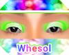 rainbow green eyeshadow