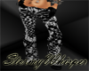 Bl/wh snake pants w/shoe