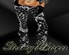 Bl/wh snake pants w/shoe