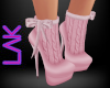 Pink knit boots