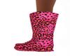 Pink Leopard Flat Boots
