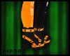 P| Orange/Black Boots