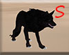 Black green eye wolf