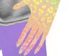 Rainbow Leopard Hand Tat