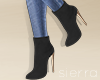 ;) Suede Boots Black