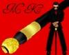 black / gold cane