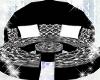 0-BlackWhite Round loung