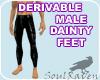 Male Dainty Feet Mesh