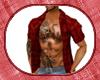 wolfs red plaid shirt