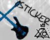 [XO] Guitar Cross, Blue