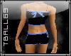 black/blue short outfit