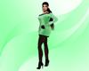 Lindas Green Sweater Dre