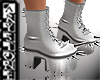 $.Silver boots