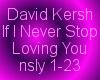 DKIf I Never Stop LovinU