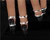 Nails Black + Rings