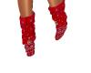 red bandana shoes