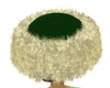 green/gold Fur Hat