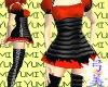 Yumi Dress - Raven/Fire