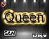 Black Queen Head Sign