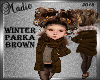 Winter Brown Parka Kids