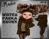 Winter Brown Parka Kids