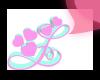 G >Letter L pink heart