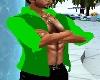 2 tone green shirt