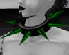 Green Spiked Collar
