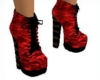 red platform shoes