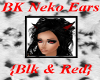 BK Neko Ears - Blk & Red
