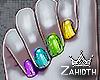 Rainbow Chrome Nails