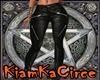 Pantalon cuero negro RL