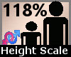 Scale Height 118% F A